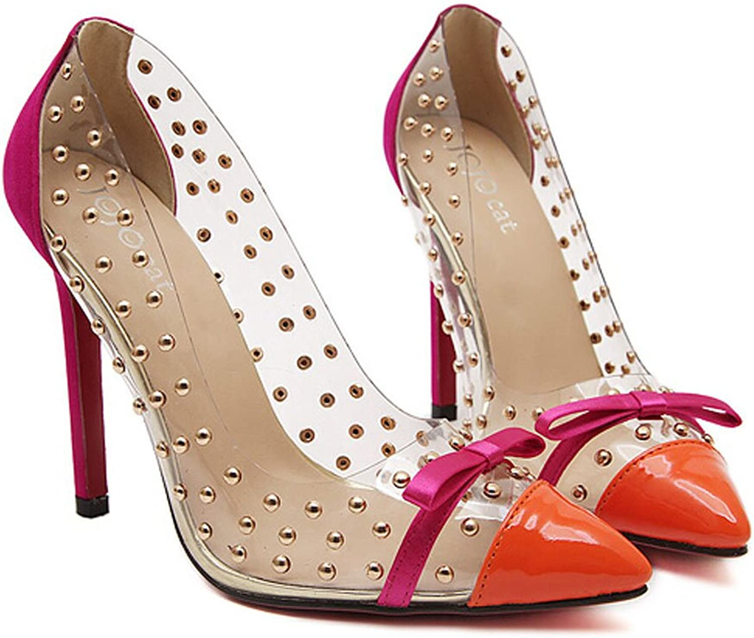 San hojas High Heels with Bow Pointed Toe
