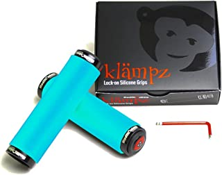 RedMonkey Klampz Lock On Grip with Black Collars, Sky Blue