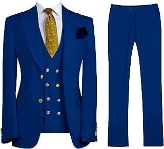 Men's Fashion 3 Pieces Suit Slim Fit Wedding Suits for Men Groom Tuxedos