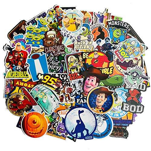 YLGG 100 pieces Toy Story waterproof graffiti stickers for laptops, skateboards, suitcases, helmets, mobile phones, motorcycles, etc