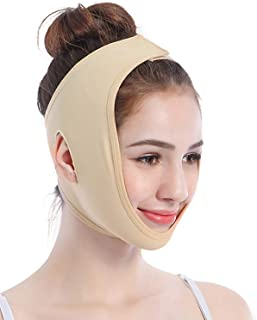 Face Lifting Slimming Belt, Facial Cheek V Shape Lift Up Thin Mask Strap Face Line Smooth Breathable Double Chin Reduce Ba...