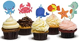 Creative Party SF583 Ocean Animals Party Fondant Toppers-6 Pcs