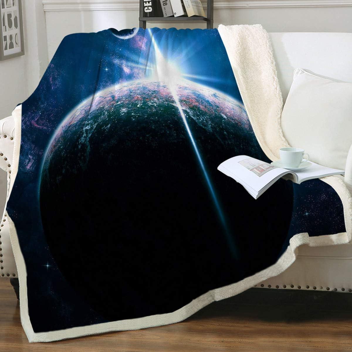 Sleepwish Deep Blue Galaxy Throw Detroit Mall Outer Detroit Mall Dark Blanket Space F