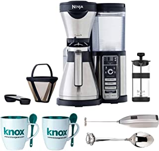 Ninja Coffee Bar Brewer, Thermal Carafe (CF086) Includes Frother, Set of Mugs and Set of Demi Spoons