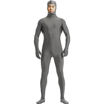 (YUUWA)全身タイツ 顔部分が開いている 着ぐるみ 伸縮抜群 コスチューム仮装 ハイイロオオカミ 女性XL