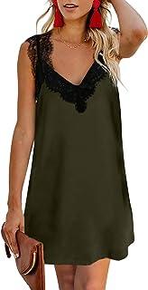 Bdcoco Womens V Neck Lace Shoulder