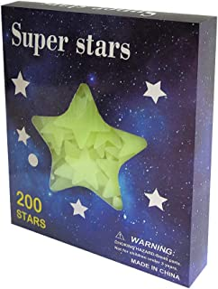 Glow in The Dark Stars - is Wall Decals for Kids Rooms.3D 200pcs Favorable Aesthetic Room Decor.Wall Stickers for Bedroom Good for Childrens Room Decor Too.