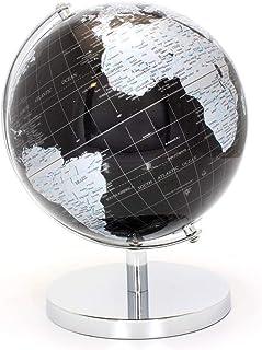LEONARDO czarny i srebrny globus świata 27 cm, metal