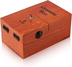Useless Box Leave Me Alone Machine Fully Assembled in Real Wood(Brown)