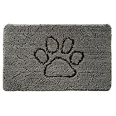 Gorilla Grip Original Shaggy Chenille Pet Rug Mat (30 x 20), Extra Soft on Paws, Helps Absorb Mud Dirt, Machine Wash/Dry, Carpet Mats Perfect Crates, Door Mat, Dog Beds, Under Bowls (Paw Gray)