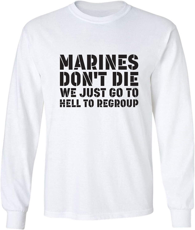 zerogravitee Marines Don't Die. Adult Long Sleeve T-Shirt