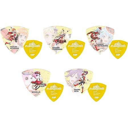 ESP x バンドリ! ハロー、ハッピーワールド! 3 キャラクター ギターピック5種各2枚 10枚セット