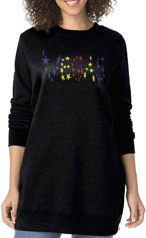 JDong618 Fashionable Figure Flattering Long Sleeve All LAS Vegas Stars Shiny Coat Black For Women
