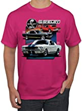 Shelby 65 Powered by Ford Motors Mustang Logo Emblem | Mens Cars and Trucks Graphic T-Shirt