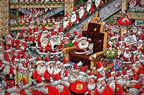 Chaos at Santa's Grotto   Puzzle de madera (300 piezas)