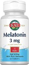 KAL Melatonin 3 mg | Healthy Relaxation & Sleep Support Formula | Fast-Acting | With Vitamin B-6 | 60 CT