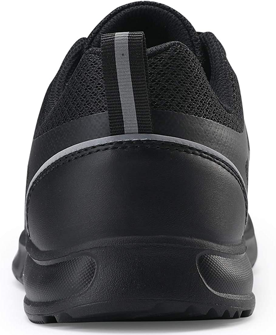 COOJOY Men's Mesh Running Shoes Walking Trainer Shock Absorbing Sports Gym Sneakers Comfortable Athletic Fitness Jogging Black1