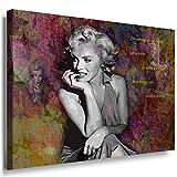 Julia-Art Leinwandbilder - Marilyn Monroe Hollywood Legend