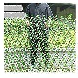 YOGANHJAT Celosía seto con Hojas, Barrera Plegable de Mimbre para el jardín, Extensible Hiedra Artificial Plantas Colgantes Valla Protección de Privacidad Jardín,E