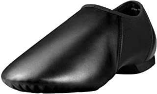 Leather Slip-On Split Sole Jazz Shoe for Women Men Girls Boys