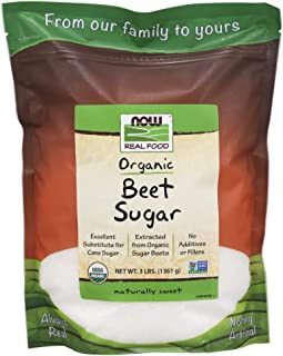 NOW Foods, Certified Organic Beet Sugar, Extracted from Organic Sugar Beets, Excellent Substitute for Cane Sugar, No Additivies or Fillers, Certified Non-GMO, 3-Pound