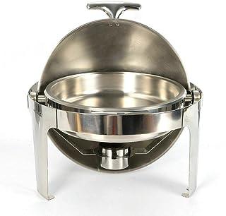 Fisch,Fleisch,Gemüs 7,5L EDELSTAHL Chafing Dish rund inkl Brennpastenbehälter f