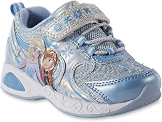 ACI Disney Toddler Girls' Frozen Light-up Blue Sneakers