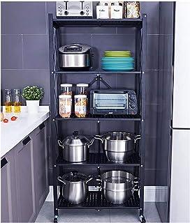 KOKOF Étagère de Cuisine au Sol Multi-Couches appareils électriques Rangement étagère en Pot Rangement et Organisation de ...