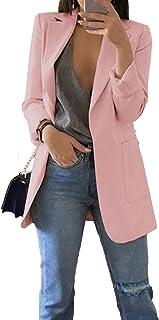382 Danaest blazer para mujer con bolsillos