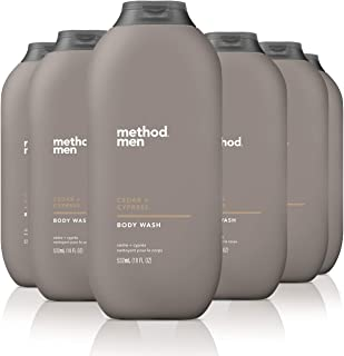 Method Mens Body Wash, Cedar + Cypress, 6 Count