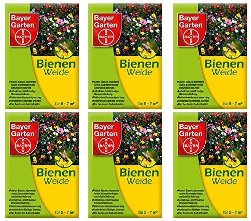 6 x 50 g Bayer Garten Bienenweide Saatgutmischung Blumensamen