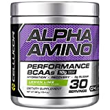 Cellucor Alpha Amino EAA & BCAA Powder | Branched Chain Essential Amino Acids + Electrolytes | Lemon Lime | 30 Servings