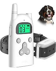 VINSIC 無駄吠え防止首輪 むだぼえ防止首輪 犬訓練しつけ首輪 犬吠え防止ワンブル、3モード[電気ショック/振動/ビープ音]、充電式、防水、300m リモコン距離、1年品質保証