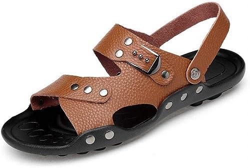 MAGAI Sandales pour pour Hommes Sandales en Cuir pour Hommes Sandales Pantoufles Papa  aucune hésitation! achetez maintenant!