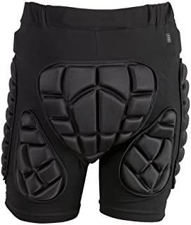 TTIO Padded Shorts-3D Hip Butt Pad-EVA Protective Gear Soft Breathable Lightweight Sportswear for Skiing Skating Snowboard...