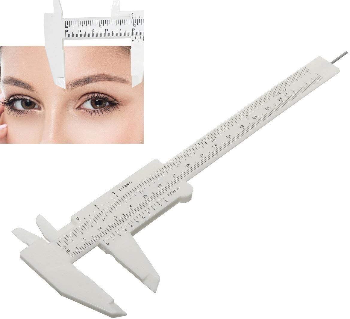 caliper Measuring Max 70% OFF Tools 6 Pcs Eyebrow Discount mail order Sliding Ga Ruler