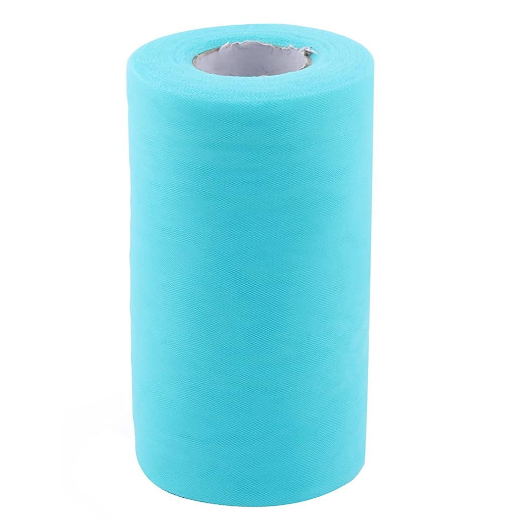 uxcell Polyester Party DIY Handcraft Decor Tulle Spool Roll 6 Inch x 50 Yards Teal Blue ghx3841464