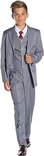 Boys Formal 5 Piece Suit Set with Shirt & Vest
