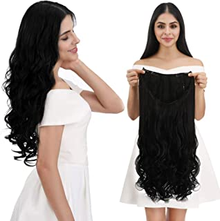 REECHO Half Wig Straight Curly Wavy U-Shape Synthetic 7 Clips in Hair for Women