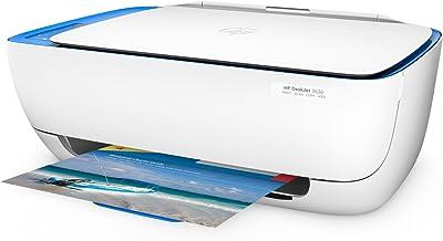 HP DeskJet 3630 Series All in One Wireless Printer (Renewed) (Blue)