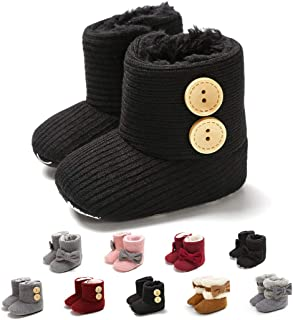 Infant Boots Winter Baby Girl Shoes Soft Sole Anti-Slip Toddler Snow Warm Prewalker Newborn Boots