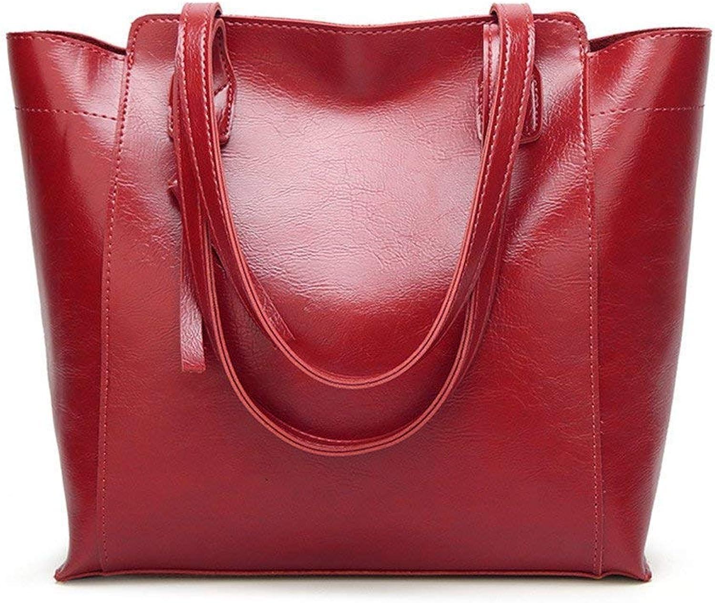 Isogea Handtasche Einzelner Schulter-Beutel-Handtaschen-großer Kapazitäts-Beutel einfach und und und großzügig, rot (Farbe   Rot, Größe   -) B07MFL84WD  Ruf zuerst 2eae41