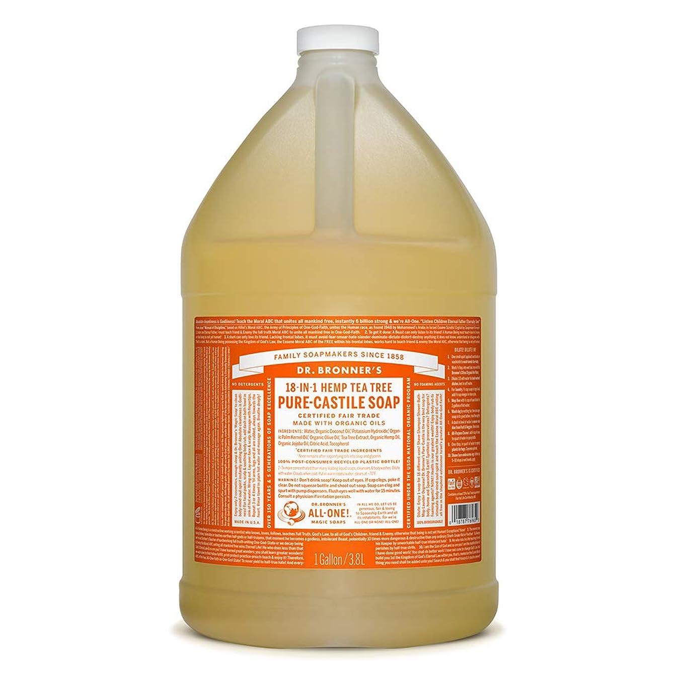 一見ペナルティトリッキードクターブロナー マジックソープ液体 ティーツリー 3776ml