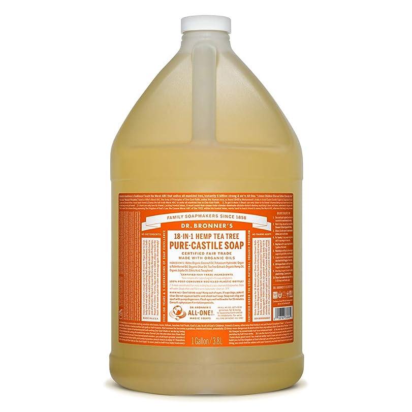 提出する南方の援助するドクターブロナー マジックソープ液体 ティーツリー 3776ml