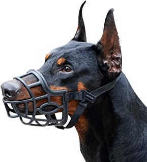 Dog Muzzle, Breathable Basket Muzzles for Small, Medium, Large and X-Large Dogs, Stop Biting, Barking and Chewing