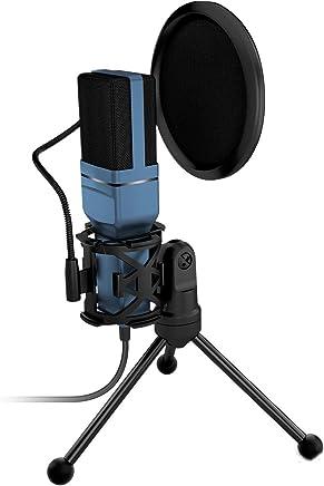 Microfono USB condensatore Microfono,Plug Play Home Studio Microfono,Microfono condensatore per Youtube,Facebook,Skype,Google Search, Podcasting, Giochi - Trova i prezzi più bassi