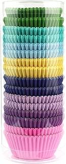 Xlloest Premium Mini Rainbow Bright Baking Cups, Cupcake Liners Paper, Pack of 400
