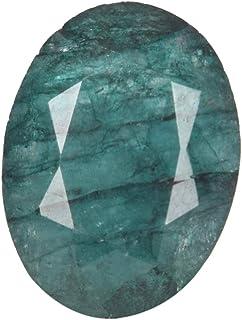 Real Gems Piedra Preciosa Suelta facetada Esmeralda Natural, Esmeralda de Forma Ovalada Piedra Preciosa certificada Verde ...