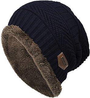 ae1a711ce853 Keepwin Sombrero De Punto, Unisex Sombrero De Lana De Invierno Tejido Suave  Cable EláStico Sombreros