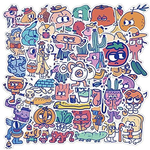YOUYOU Monster Cartoon Bild Graffiti Wasserdicht Skateboard Reise Koffer Handy Gepäck Aufkleber Niedlich Kinder Mädchen 50 Stück